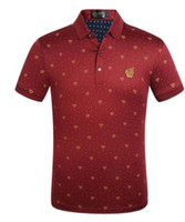 Wholesale business tee shirts resale online - Mens Luxury Business Polos Summer Ver Designer Polo Shirts Hombres Tees Short Sleeved