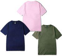 dunkelrosa hemd männer großhandel-2019 High Street Dark OVERSIZE Loose Pink Hemd Short Pure Hirt für Männer Grün
