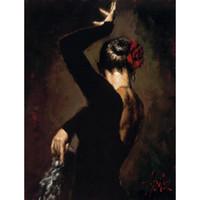 ingrosso dipinti figure signore-Bella signora dipinti ad olio figura arte moderna Tango argentino a mano arte della parete