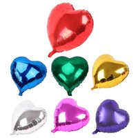 Wholesale green heart balloons for sale - Group buy Heart Shape Hydrogen Aluminum Foil Balloon Wedding Birthday Party Decoration Supplies Baby Shower Party Foil Balloon