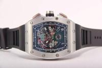 часы felipe massa оптовых-Роскошные мужские часы Tonneau с автоподзаводом Механические часы Felipe Massa Flyback с резиновой пряжкой Мужские прозрачные задние наручные часы.