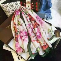 ingrosso disegni di seta chiffon-Sciarpa di seta di alta qualità di marca di lusso delle donne 2019 specifiche 180 * sciarpa di seta di seta di modello di vendita calda di 90 cm progettata per la primavera, summe