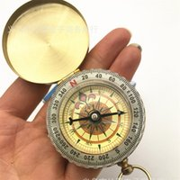 Wholesale toy watches online - Retro Pocket Watch Compass Flip Cover Multifunction Outdoor Mountaineering Tool Portable Hiking Fashion Bardian QL F1