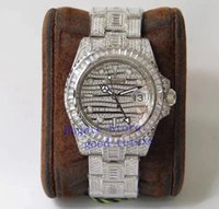 mens relógios de luxo de diamante de cristal venda por atacado-Luxo Superior 904L Assista Mens Diamond Dial Bracelet Bezel Automatic ETA 2824 Homens Gmt Relógios 116.769 Tbr cristal TW fábrica mestre de pulso
