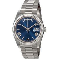 süper hızlı saatler toptan satış-Day Date New Watch Men Daydate Sapphire Glass Golden White Watch Crown Automatic President Watches Orologio 0001