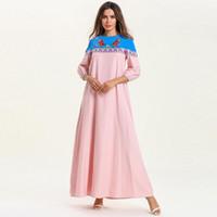 06052d5749e031 musselin kleider großhandel-Frau Plus Size Musselin Kleid Mode 3/4 Laterne  Ärmel Vertrag