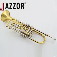 trombetas mutes venda por atacado-JAZZOR professional pocket bb trompete bocal acessórios mudo instrumento musical trompete JBTR-440