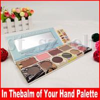 paleta de bálsamo venda por atacado-No theBalm ofthe Hand Greatest Hits Volume 2 paleta Bálsamo de sombra Blush bronzer Highlighter paleta de 9 cores