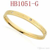ingrosso braccialetti scorrevoli d'oro-T Braccialetto di marca per le donne Fashion High-end di qualità per i gioielli delle signore con oro rosa oro colore argento Trasporto di goccia