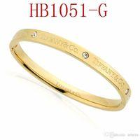 ingrosso braccialetti scorrevoli-T Braccialetto di marca per le donne Moda di qualità di fascia alta per i gioielli da donna con oro rosa oro argento colore trasporto di goccia