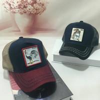 erwachsene sonnenblenden großhandel-Sommer-Fernlastfahrer-Hut-Hysteresen-Tier-Stickerei / Designer-gebogene Maschen-Baseballmütze für die Sonnenblende der Frauen