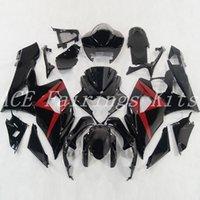 ingrosso kit corporeo per gsxr-Nuova bici iniezione moto ABS Kit carenature per Suzuki GSXR1000 K5 2005 2006 GSXR 1000 05 06 carenatura personalizzata carena nero rosso