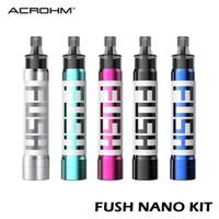 1.5 ml tüp toptan satış-Acrohm Fush Nano Kalem Pod Sistemi Seti 550mAh Mod Pil sallayın 1.5ml Nano Kartuş% 100 Otantik ile Renkleri LED Tüpü değiştirmek için