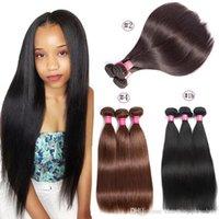 Wholesale buy virgin brazilian hair resale online - Brazilian Straight Hair Bundles B or or color can buy Straight Virgin human hair Extension Human Hair Bundles Non Remy