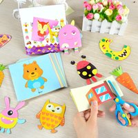 Wholesale kindergarten educational toys for sale - Group buy 100pcs DIY Child Handmade Toys Paper Cutting Confetti Fun Educational Toys Kindergarten Teaching Supplies with Scissors T200401