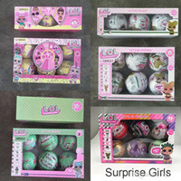 Wholesale china toy girls resale online - 10cm Glitter Series Doll Magic Egg Ball Action Figures Kids Toys Unpacking Dolls Girls Funny Dress Up Gift