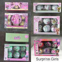 lustige kleider großhandel-10cm Glitter Series 1 2 3 Puppe magisches Ei Kugel Action-Figuren Kinder Spielzeug Auspacken Puppen Mädchen Lustige verkleiden Geschenk