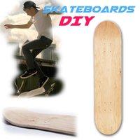 schlittschuh schlange großhandel-8-Zoll-8-Schicht-Natural Maple Blank Double Rocker konkaven Skateboards Holz Ahorn Skate Deck Board Skateboards Deck Zubehör