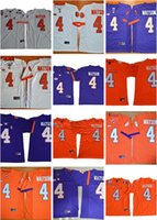 Wholesale college custom jerseys for sale - Group buy 2019 Customized Clemson Tigers college football jerseys specially made custom personalized any name number DeShaun Watson white blue oran