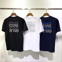 ingrosso uomini coreani camicie di moda-Nuovo 2019 popolare logo phantom riflettente lettere manica corta da uomo T-shirt maniche larghe moda maschile coreano