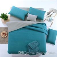 conjuntos de cama fábrica venda por atacado-Fashion Bedding abrange os conjuntos sólido pedaço Cor Três Cover Set 10 Cor 2 metros jogos de cama quilt Home Textiles Direta preço de fábrica