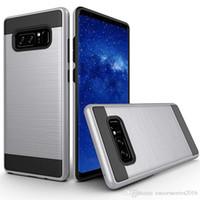 cubiertas del teléfono zte al por mayor-La caja del teléfono para el iPhone verus 11 Pro Max XR XS 6 7 8 Plus 6S ZTE Blade XL tributo HD LS676 X carga de metal cepillado armadura de la cubierta del diseño clásico
