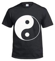 croix en métal chinois achat en gros de-NEW YIN YANG 100% coton T-shirt / Biker / Chinois / Croix / Métal / Cadeau / Musique / Haut à manches courtes Plus Size t-shirt