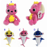 Wholesale new style baby games resale online - 4 Style cm cm baby shark Stuffed plush dolls New Cartoon sharks Action Figure Toys Kids Christmas Party Best Gifts