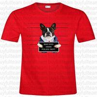 ingrosso corti di polizia-Bad Dog Police Dept Mens maniche corte agrostidi Moda girocollo T-shirt Taglia S M L XL 2XL 3XL