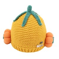 Wholesale cute baby hats ears for sale - Group buy 2020 baby hat autumn and winter baby wool cap months years old cute pumpkin boy girl child cap ear protectors