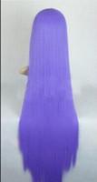 Wholesale wig anime men online - WIG Long Straight Anime Men Women Purple Hair Cosplay Costume Halloween Full Wigs