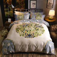 Wholesale 3d bedding set california king resale online - 2019 new fashion pattern series four piece set bedding Luxury Quilt Set flower cotton bed linen Bedding Outlet Life Sets New Home decor