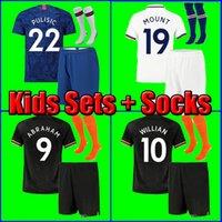 üniforma çoraplar toptan satış-20 İBRAHİM MOUNT PULISIC çocukların futbol forması futbol forması Bakayoko Camiseta WILLIAN 2019 2020 Kanté ÇOCUKLAR KIT ÜNİFORMA çorap SETLERİ Çocuklar 19