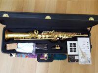 saxophone soprano droit achat en gros de-Nouvelle arrivée Hétéro Japon Yanagisawa Saxophone Soprano S-901 Bb Instrument de Musique Haute Qualité Yanagisawa Sax Avec Accessoire