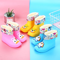 Wholesale kids water shoes for sale - Group buy New cotton insulated children s rain shoes waterproof and skidproof rain boots for boys and girls cartoon water shoes for kids
