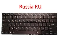 teclados sem moldura venda por atacado-Teclado do portátil para Bravis NB141 Rússia RU Inglês preto dos EUA sem Frame novo