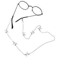porte-lunettes achat en gros de-Chaîne de lunettes LuReen Lovely Dove en métal pour femmes / filles Mode lunettes de soleil Cou Cord Corde Simple Chaîne De Lunettes De Vue Strap