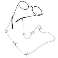 Wholesale sunglasses neck cord strap resale online - LuReen Lovely Metal Dove Eyeglass Chain for Women Girls Fashion Sunglasses Neck Cord Simple Eyeglass Chain Holder Strap