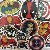 ingrosso batman superman hulk-100 Pz / set Adesivi Per MARVEL Super Hero DC Per Auto Laptop Notebook Decal Frigo Skateboard Batman Superman Hulk Iron Man