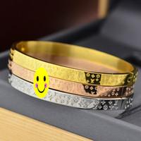 ingrosso bande di braccialetto-Braccialetti caldi in acciaio al titanio 316L Braccialetti in oro rosa Bracciale da donna con cinturino da uomo in oro con ciondolo in oro Gioielli da coppia