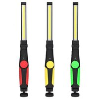 Wholesale vehicle lights for sale - Group buy Outdoors Multifunctional Cob Flashlight Abs Plastic Usb Rechargeable Led Light Torch Vehicle Maintenance Lamp For Camping Equipment wl E1