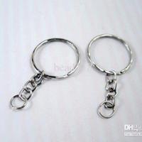 diy gümüş anahtarlıklar toptan satış-Sıcak satış ! 300 adet / grup Antik Gümüş Alaşım Bant Zincir anahtarlık DIY Aksesuarları Malzeme Aksesuarları