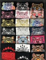 Tiger Head Sweater Embroidered Sweatshirts Pullover Jumpers Man Shirts Woman Casual Streetwear High Quality S-XXL KZ 26 Colors Wholesale
