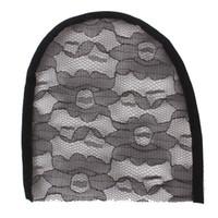 ingrosso le protezioni della parrucca di qualità del merletto-Nero / Beige Hight Quality Rete di pizzo elastico per fare parrucche Cappelli e merletto Parrucche Materiale Cappuccio Accessori in pizzo
