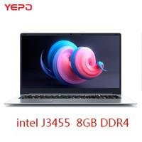 notizbuch quad großhandel-YEPO 15,6 '' Laptop mit RAM 8 GB ROM 256 GB SSD Notebook-Computer mit Intel J3455 2,4 GHz Quad Core Ultrabook für Gaming Office PS