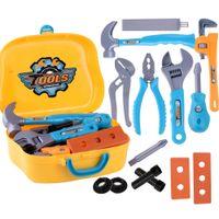 ferramenta anti-stress venda por atacado-14 Pcs / 19 Pcs Crianças Pretendem Jogar Anti-stress Brinquedos Crianças Workbench Repairing Tool Toy Kit