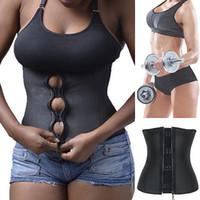 ingrosso corsetto con zip-Corsetto Body Shaper Latex Rubber Trainer Vita Underbust che dimagrisce Cincher Zipper Trainer Cincher Corset Zip Cintura cintura