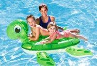 hayvan desteği toptan satış-Yeni karışık Su şişme oyuncak havuz kaplumbağa yüzen satır şişme yatak Yetişkin çocuk hayvan damızlık yüzme dağı yüzme halka ...
