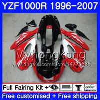 kits de cuerpo caliente al por mayor-Cuerpo para YAMAHA brillante rojo vivo Thunderace YZF1000R 96 97 98 99 00 01 238HM.13 YZF-1000R YZF 1000R 1996 1997 1998 1999 2000 2001 2001 Carenado