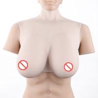 volle brüste großhandel-Volle medizinische Top-Qualität Crossdresser CD Silikonbrustform Sexy Spaltung Titten Enhancer künstliche Brustbrüste
